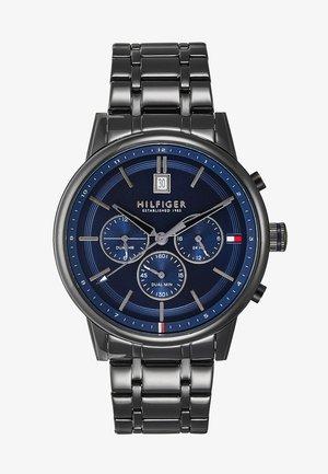 CASUAL - Chronograph watch - black/blue