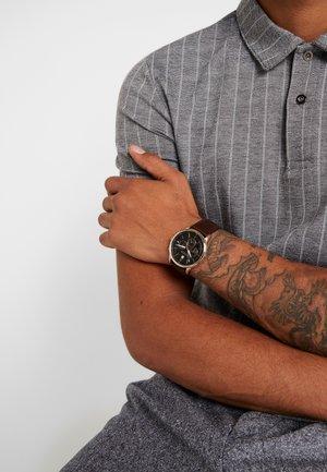 KYLE - Zegarek chronograficzny - brown/blue