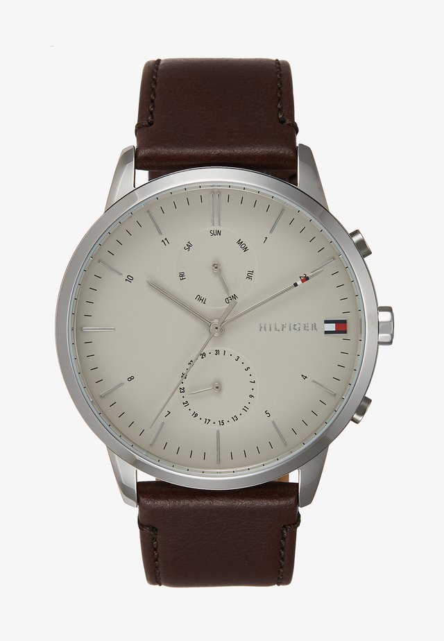 WATCH - Reloj - silver-coloured/brown
