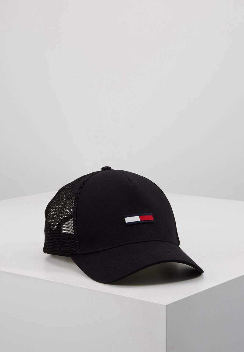 Tommy Jeans - TRUCKER FLAG CAP - Casquette - black