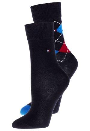 ORIGINAL ARGYLE 2 PACK - Ponožky - midnight blue