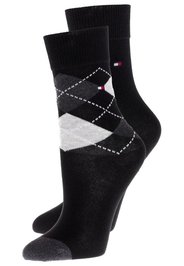 ORIGINAL ARGYLE 2 PACK - Socks - black