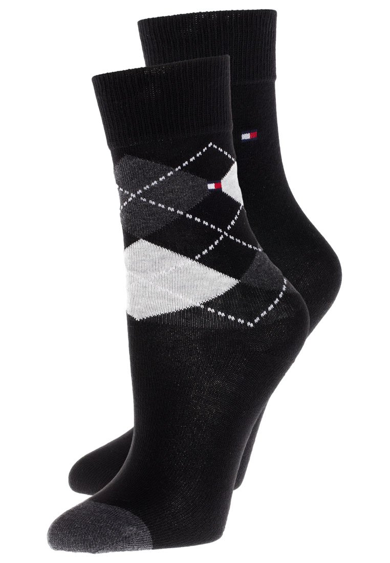 Tommy Hilfiger - ORIGINAL ARGYLE 2 PACK - Ponožky - black