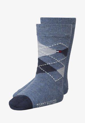 ORIGINAL ARGYLE 2 PACK - Ponožky - jeans