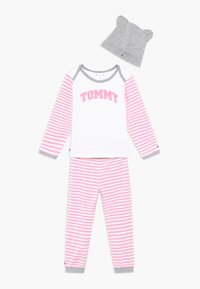Tommy Hilfiger - BABY STRIPED GIFTPACK SET - Trousers - pink - 0
