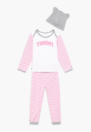 BABY STRIPED GIFTPACK SET - Kalhoty - pink