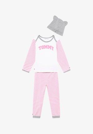 BABY STRIPED GIFTPACK SET - Kalhoty - pink