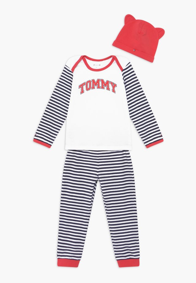 BABY STRIPED GIFTPACK SET - Pantalones - blue