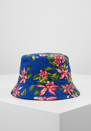 REVERSIBLE TROPICAL BUCKET HAT - Chapeau - blue