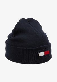 Tommy Hilfiger - BIG FLAG BEANIE - Muts - blue - 1