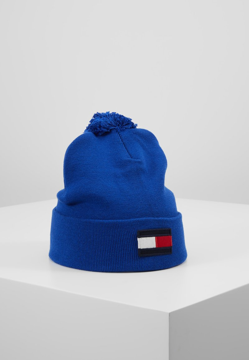 Tommy Hilfiger - BIG FLAG BEANIE POMPOM - Bonnet - blue