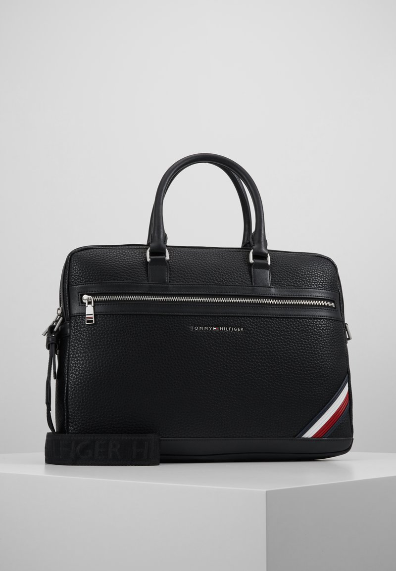 Tommy Hilfiger - DOWNTOWN COMPUTER BAG - Laptop bag - black