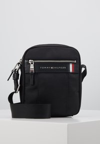 Tommy Hilfiger - ELEVATED NYLON MINI REPORTER - Torba na ramię - black - 0