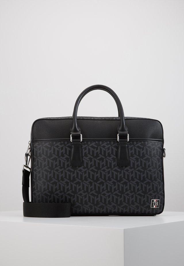 COATED SLIM COMPUTER BAG - Portafolios - black
