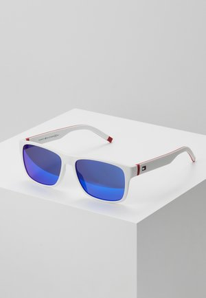 Solbriller - white/red