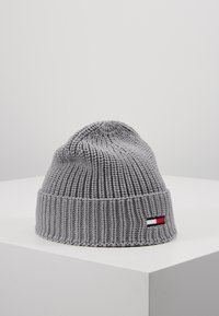 Tommy Jeans - BASIC FLAG BEANIE - Czapka - grey - 0