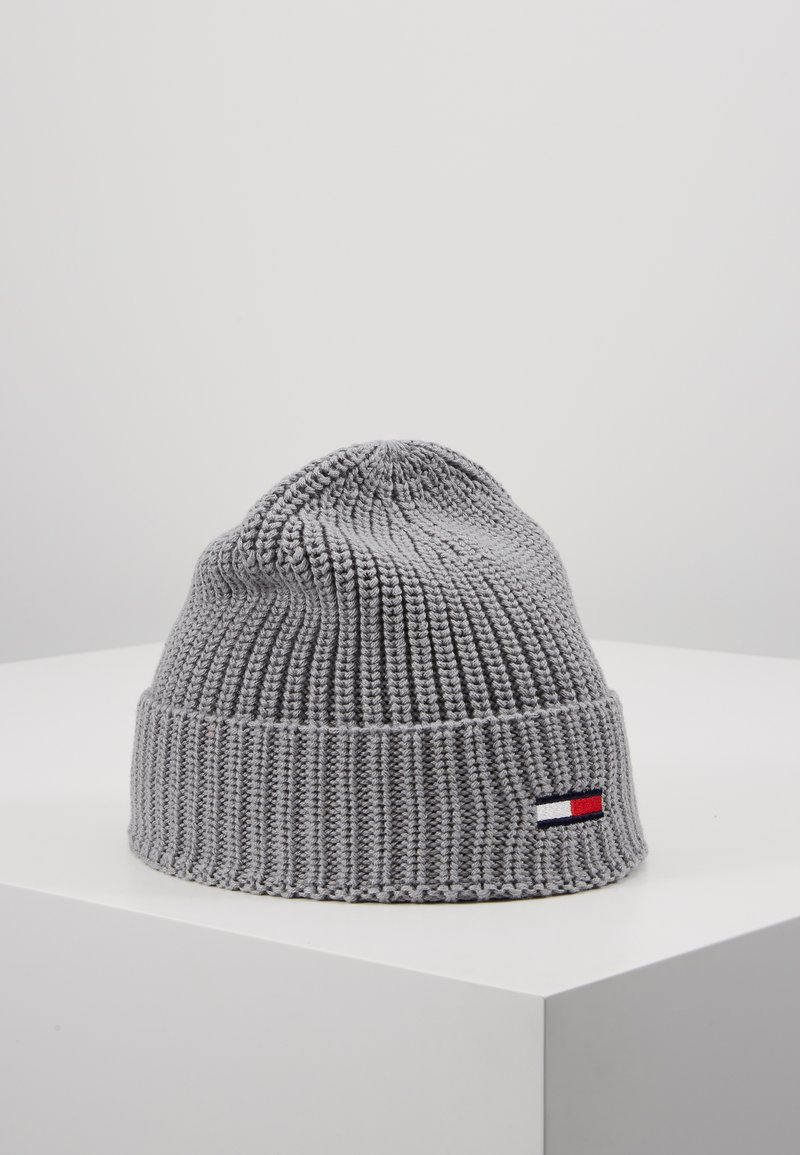 Tommy Jeans - BASIC FLAG BEANIE - Czapka - grey