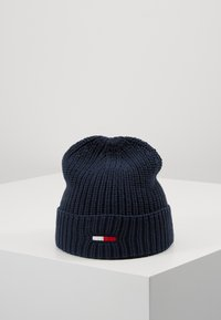 Tommy Jeans - BASIC FLAG BEANIE - Čepice - blue - 0