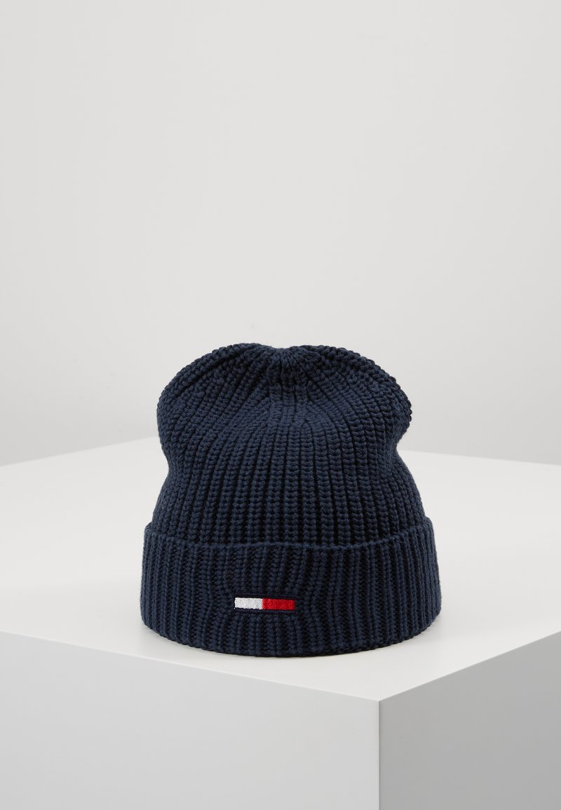 Tommy Jeans - BASIC FLAG BEANIE - Czapka - blue