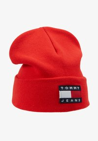 Tommy Jeans - HERITAGE FLAG BEANIE - Bonnet - red - 4