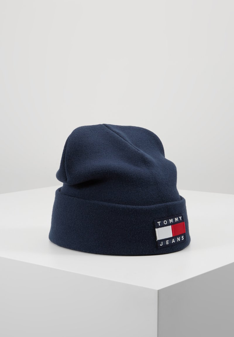 Tommy Jeans - HERITAGE FLAG BEANIE - Mütze - blue