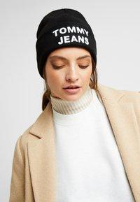 Tommy Jeans - LOGO BEANIE - Muts - black - 3