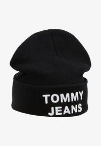 Tommy Jeans - LOGO BEANIE - Muts - black - 4