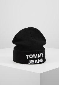 Tommy Jeans - LOGO BEANIE - Muts - black - 0