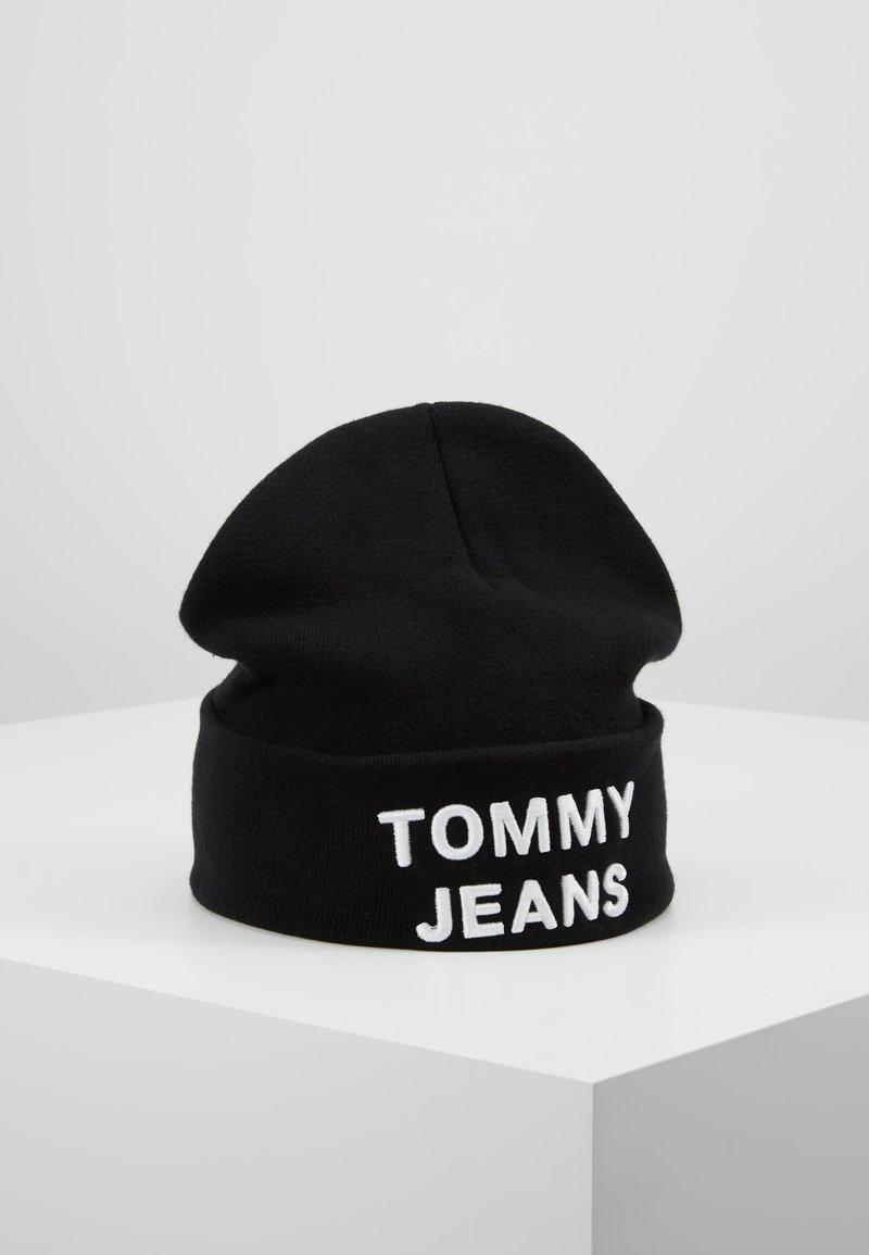 Tommy Jeans - LOGO BEANIE - Mütze - black