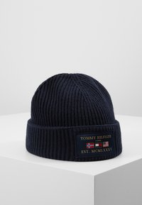 Tommy Hilfiger - OUTDOORS PATCH BEANIE - Pipo - blue - 2