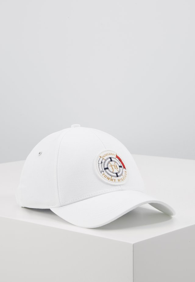ROUND PATCH  - Gorra - white