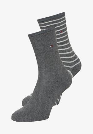 WOMEN SMALL STRIPE 2 PACK - Sokken - middle grey melange
