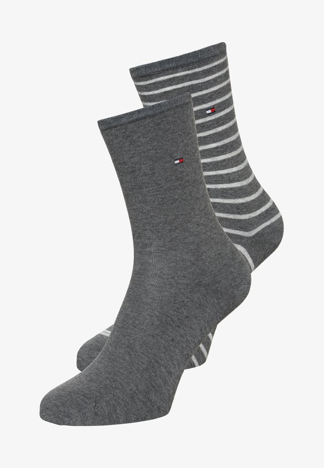 WOMEN SMALL STRIPE 2 PACK - Skarpety - middle grey melange