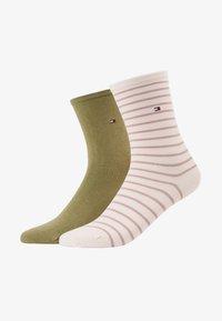 Tommy Hilfiger - WOMEN SMALL STRIPE 2 PACK - Socken - light pink - 1