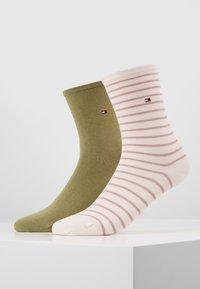 Tommy Hilfiger - WOMEN SMALL STRIPE 2 PACK - Socken - light pink - 0