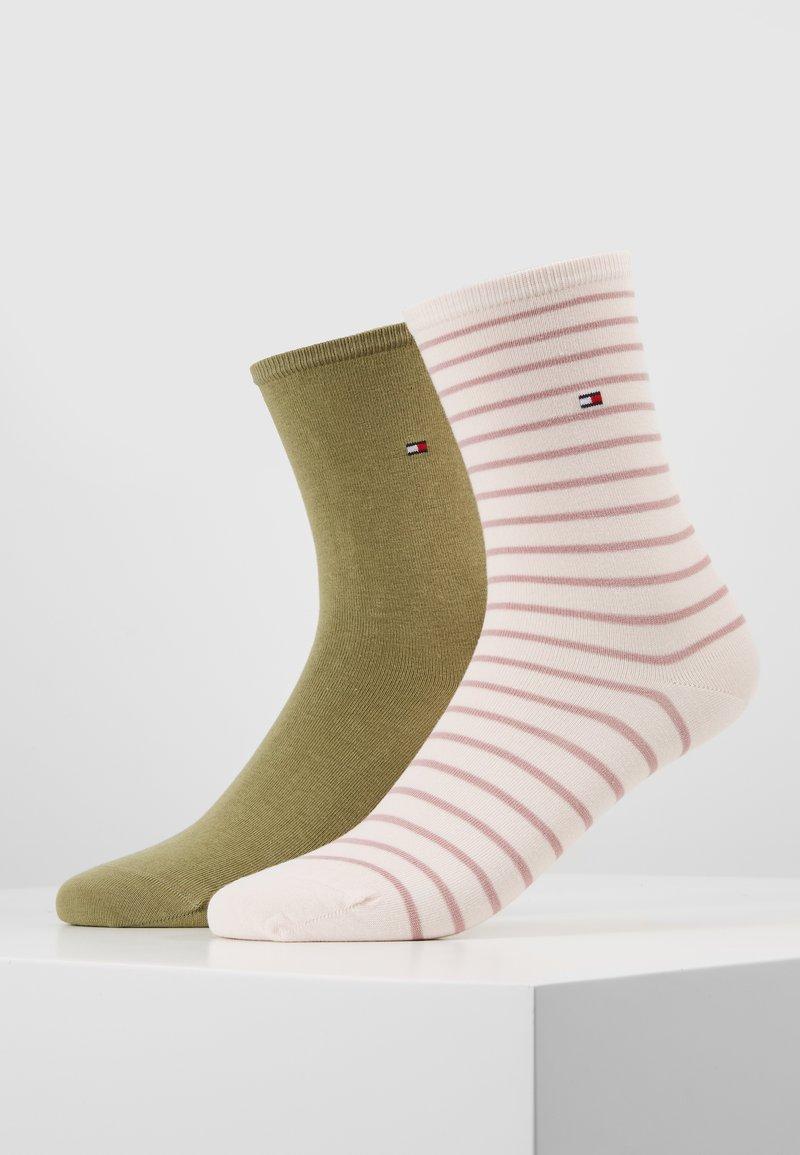 Tommy Hilfiger - WOMEN SMALL STRIPE 2 PACK - Socken - light pink