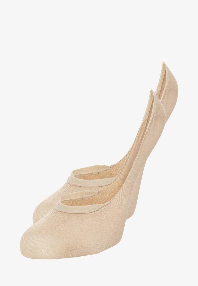 2 PACK - Calcetines tobilleros - beige