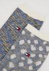 Tommy Hilfiger - WOMEN SOCK APPALOOSA 2 PACK - Calcetines - blue/yellow