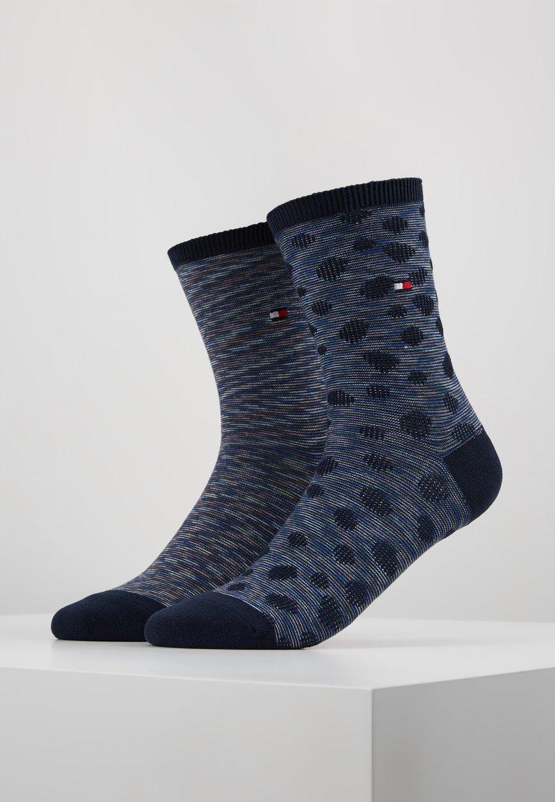 Tommy Hilfiger - WOMEN SOCK APPALOOSA 2 PACK - Socken - navy/purple
