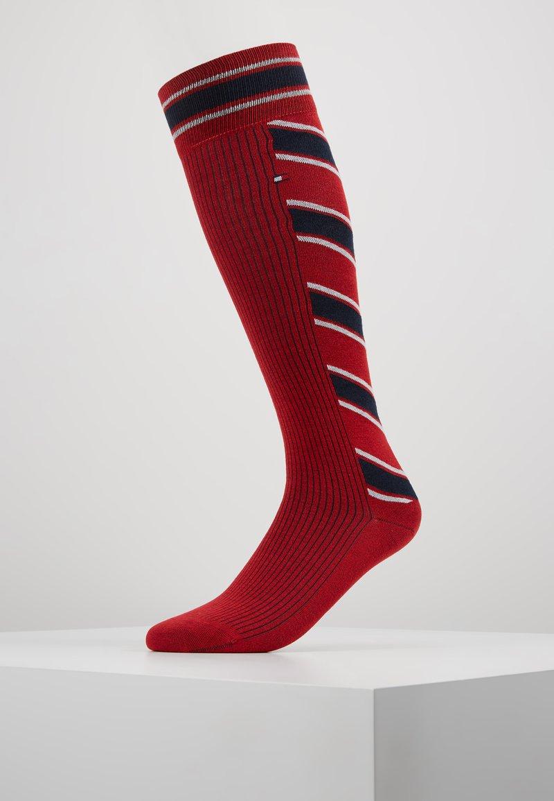 Tommy Hilfiger - WOMEN KNEEHIGH VINTAGE STRIPE - Knee high socks - red