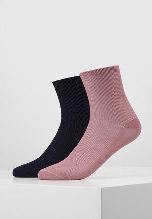 WOMEN SHORT SMALL 2 PACK - Socken - woodrose/midnight blue