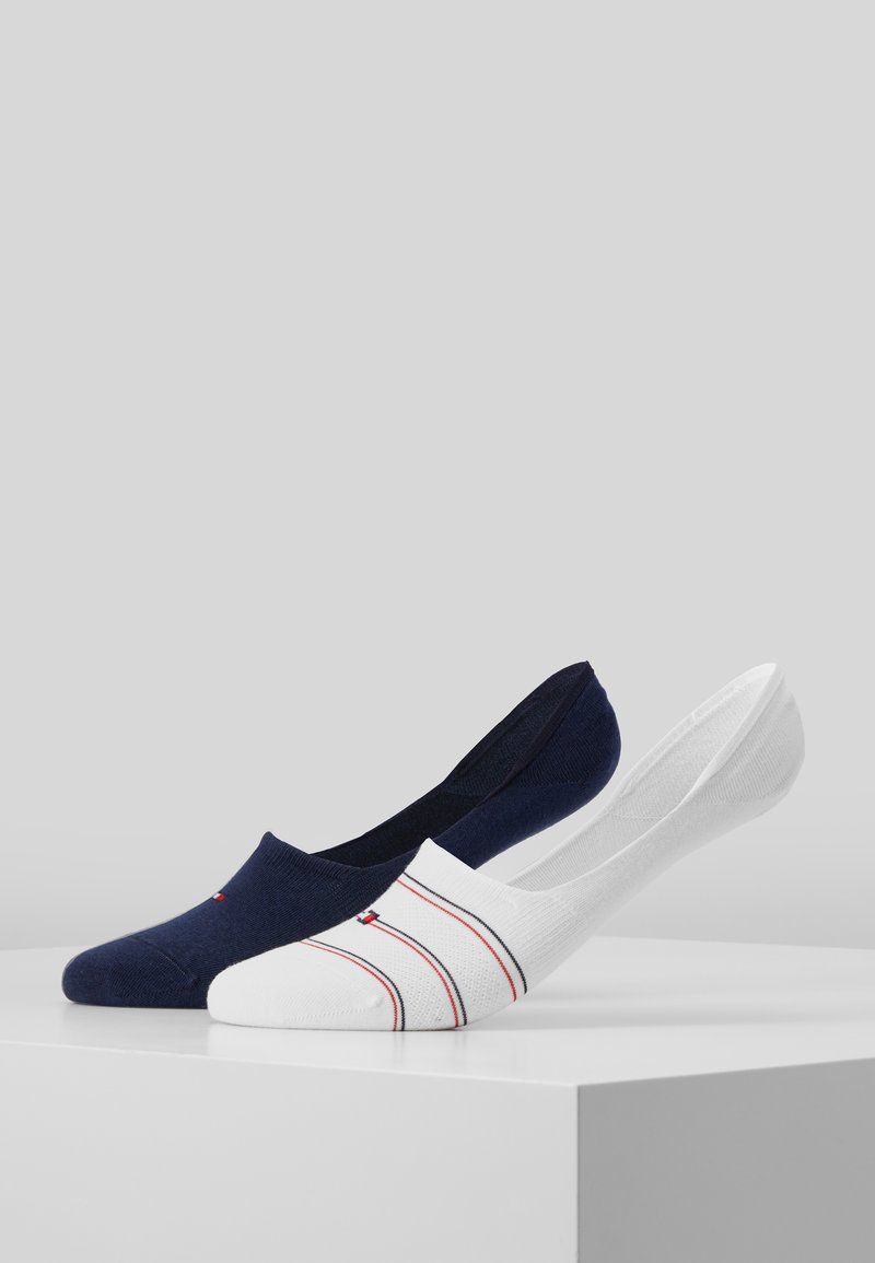 Tommy Hilfiger - WOMEN FOOTIE PREPPY 2 PACK - Enkelsokken - white