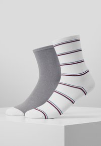 Tommy Hilfiger - WOMEN SOCK STRIPE 2 PACK - Sokken - white - 0