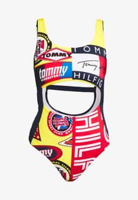 Tommy Hilfiger - CHEEKY ONE PIECE CUT OUT - Maillot de bain - bold yellow - 4