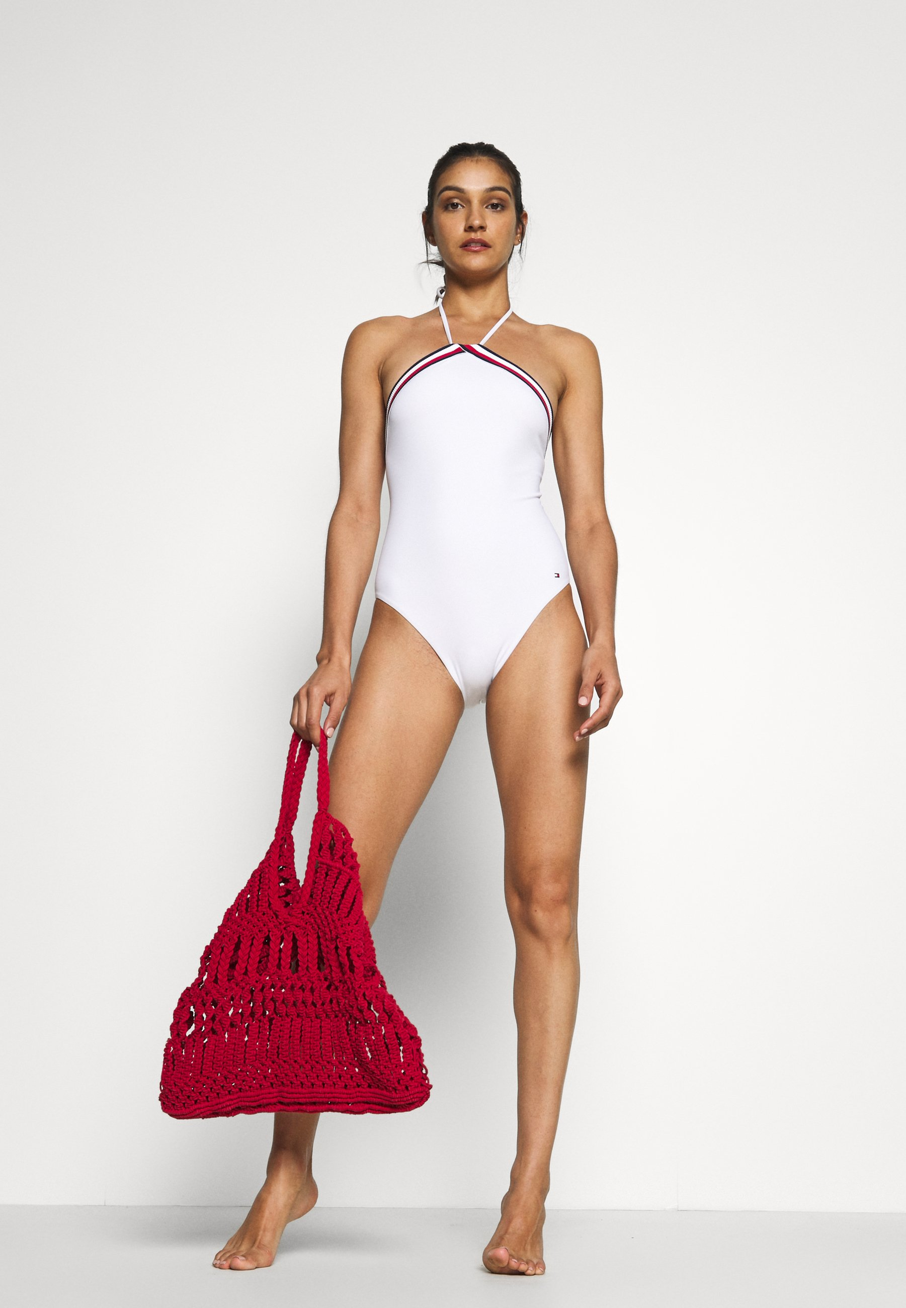 Tommy Hilfiger Core Signature One Piece - Swimsuit Classic White