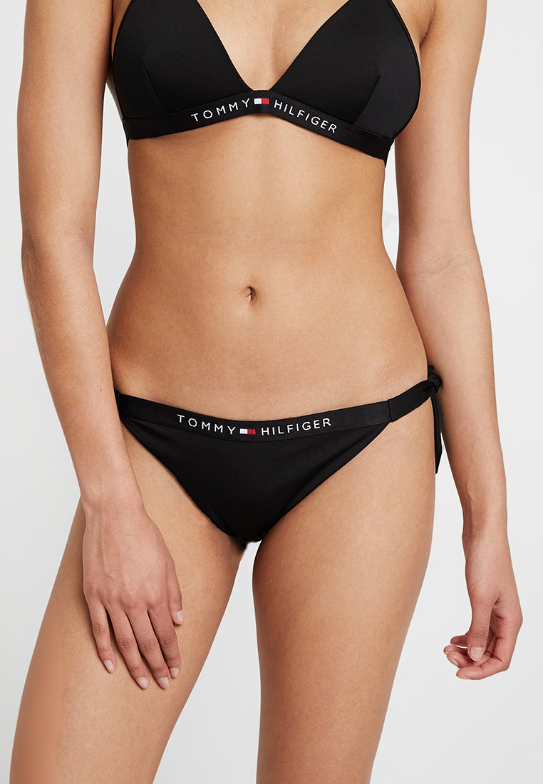Tommy Hilfiger - CORE SOLID LOGO CHEEKY SIDE TIE - Bikini bottoms - black