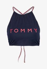 Tommy Hilfiger - CORE SOLID BASIC CROP - Bikinitoppe - navy blazer - 3