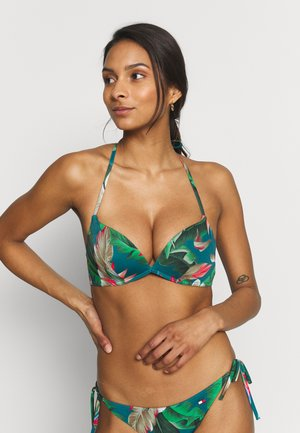 CORE SOLID BASIC PUSH UP - Bikinitop - vintage green