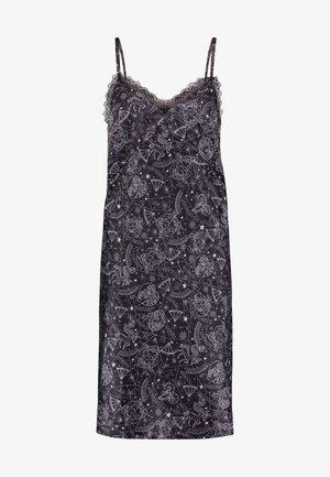 XZENDAYA STRAPPY DRESS CONSTELLATION - Noční košile - black
