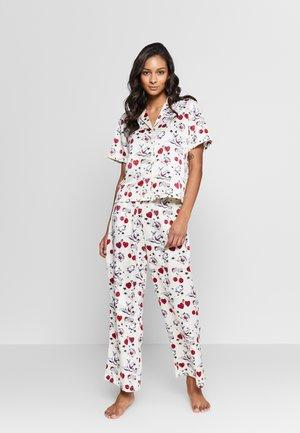 SIGNATURE WOVEN PRINT SET - Pyžamo - antique white